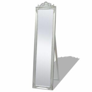 Standspiegel im Barock-Stil 160×40 cm Silber