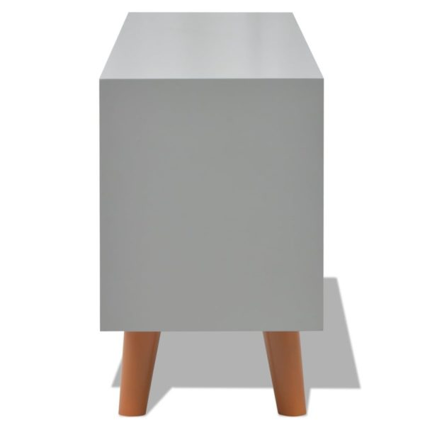 Anrichte Grau 100×30×50 cm MDF