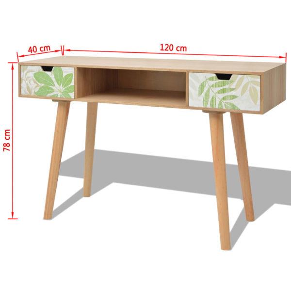 Konsolentisch Braun 120×40×78 cm MDF