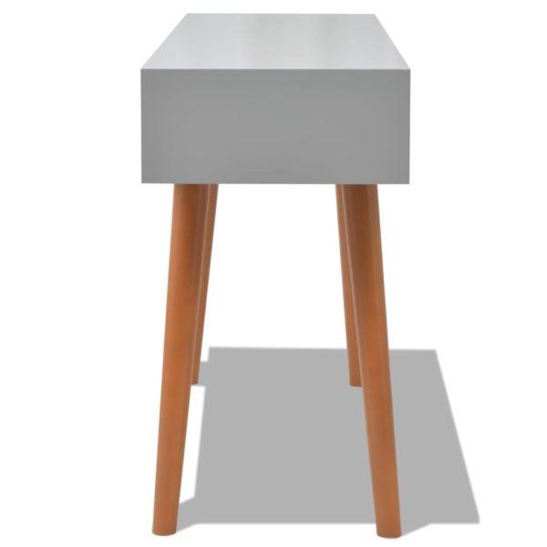 Konsolentisch Grau 120×40×78 cm MDF