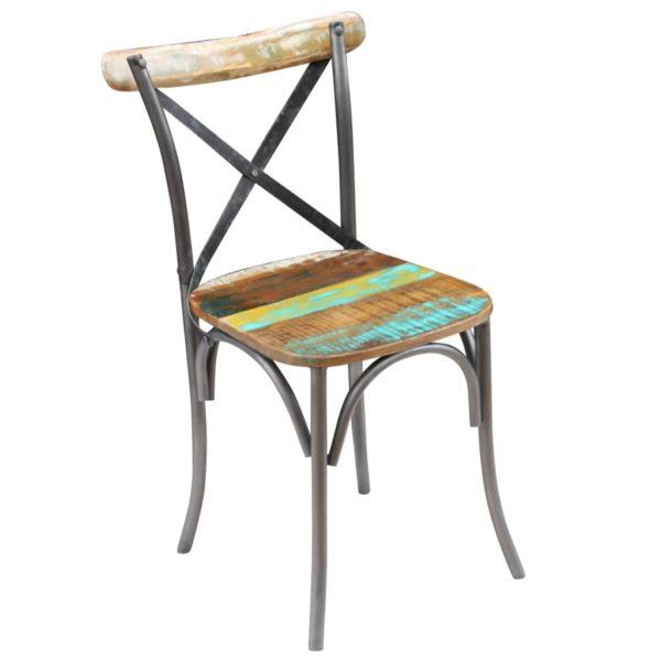Esszimmerstühle 2 Stk. Recyceltes Massivholz
