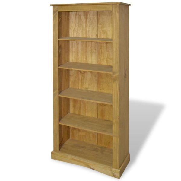 Bücherregal mit 5 Böden Mexiko-Stil Kiefer Corona 81x29x170 cm