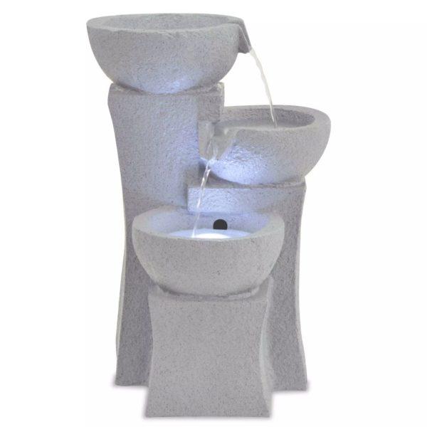 Zimmerbrunnen mit LED-Beleuchtung Polyresin
