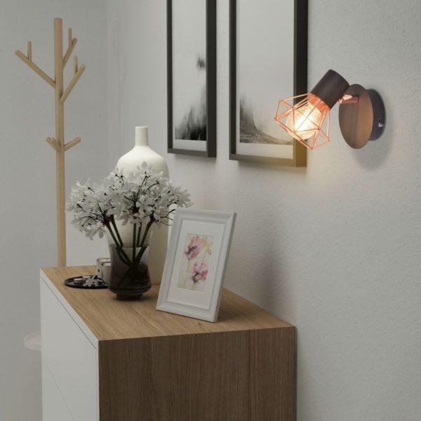 2 Wandleuchten mit 2 LED-Glühlampen 8 W