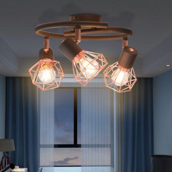 Deckenlampe mit 3 LED-Glühlampen 12 W