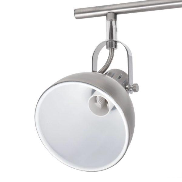 Deckenlampe für 6 Glühlampen E14 Grau