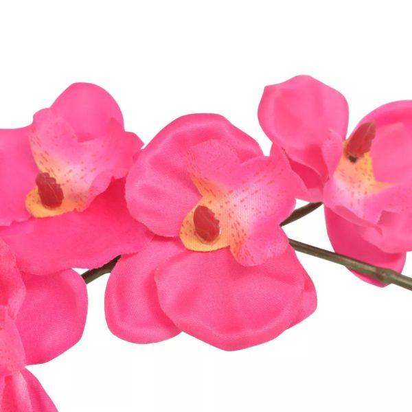 Künstliche Orchidee mit Topf 30 cm Rot