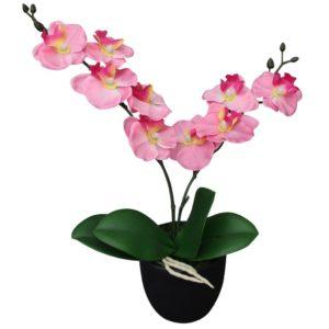 Künstliche Orchidee mit Topf 30 cm Rosa