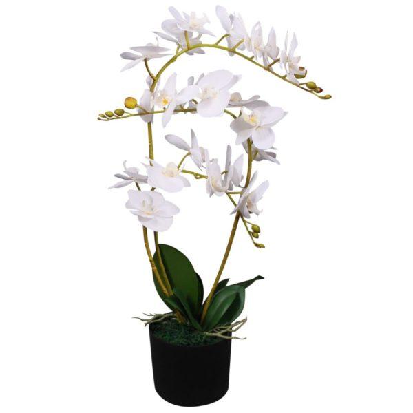 Künstliche Orchidee mit Topf 65 cm Weiß