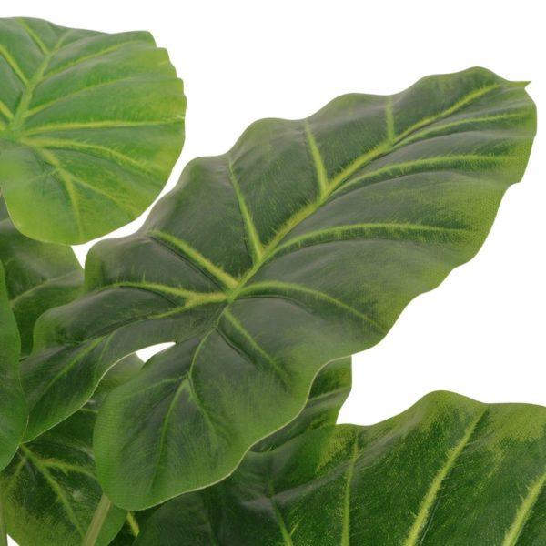Künstliche Taro-Pflanze mit Topf 45 cm Grün