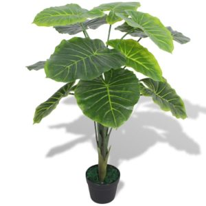 Künstliche Taro-Pflanze mit Topf 70 cm Grün