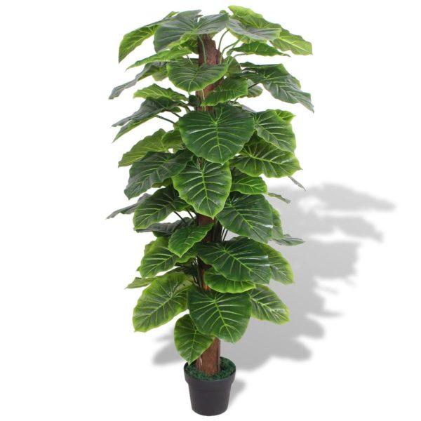 Künstliche Taro-Pflanze mit Topf 145 cm Grün