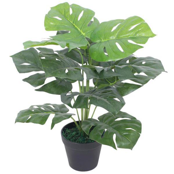 Künstliche Monstera-Pflanze mit Topf 45 cm Grün