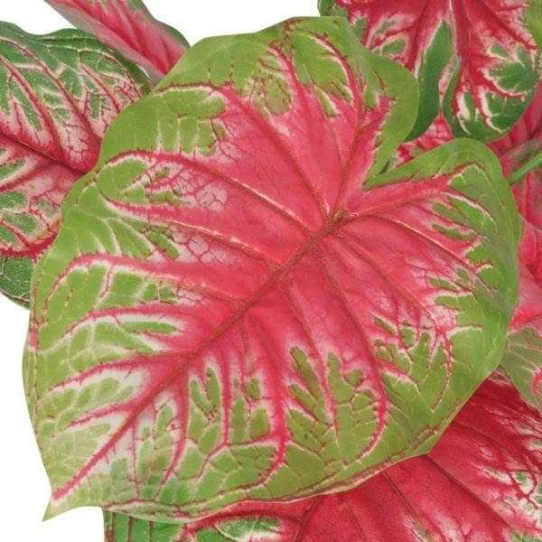 Künstliche Caladium-Pflanze mit Topf 70 cm Grün und Rot