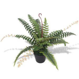 Künstliche Farnpflanze mit Topf 50 cm Grün