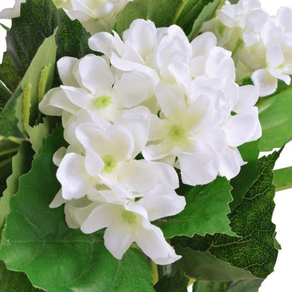 Künstliche Hortensie mit Topf 60 cm Weiß