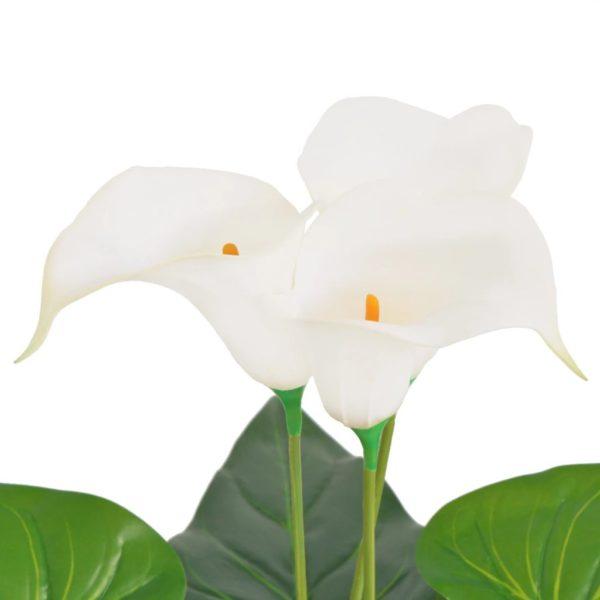 Künstliche Calla-Lilie mit Topf 45 cm Weiß