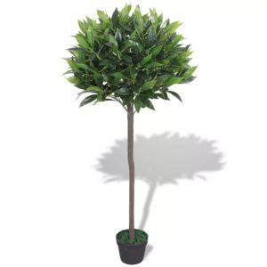 Künstlicher Lorbeerbaum mit Topf 125 cm Grün
