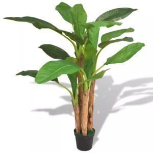 Künstlicher Bananenbaum mit Topf 175 cm Grün