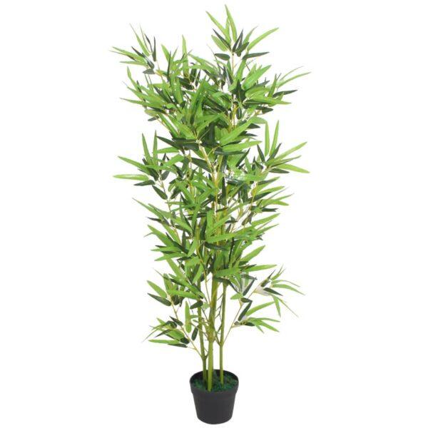 Künstliche Bambuspflanze mit Topf 120 cm Grün