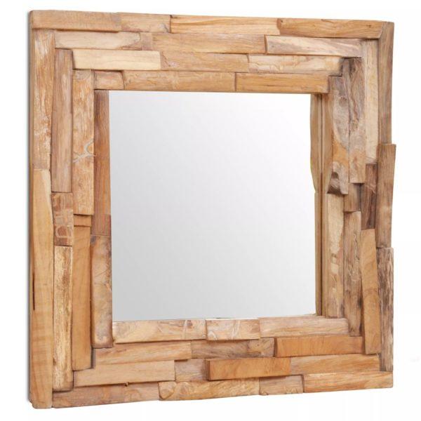 Dekorativer Spiegel Teak 60 x 60 cm Quadratisch