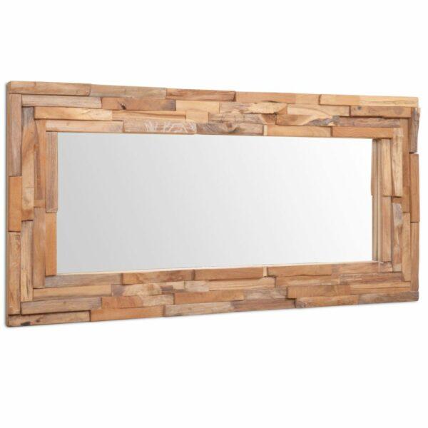 Dekorativer Spiegel Teak 120 x 60 cm Rechteckig