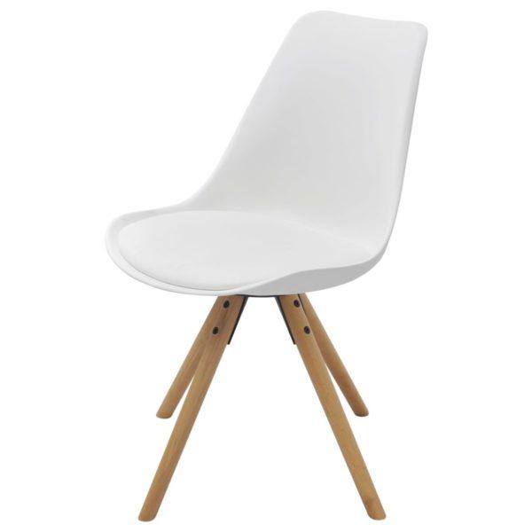 Esszimmerstühle 6 Stk. Kunstleder Weiß