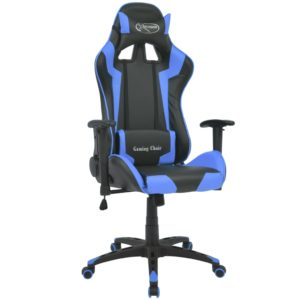 Bürostuhl Gaming-Stuhl Neigbar Kunstleder Blau