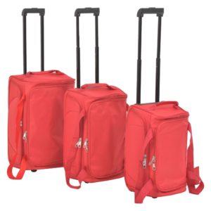 Reisekoffer-Set 3-tlg. Weichschale Rot