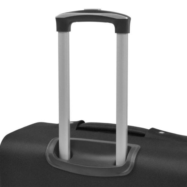 3-tlg. Weichgepäck Trolley-Set Schwarz