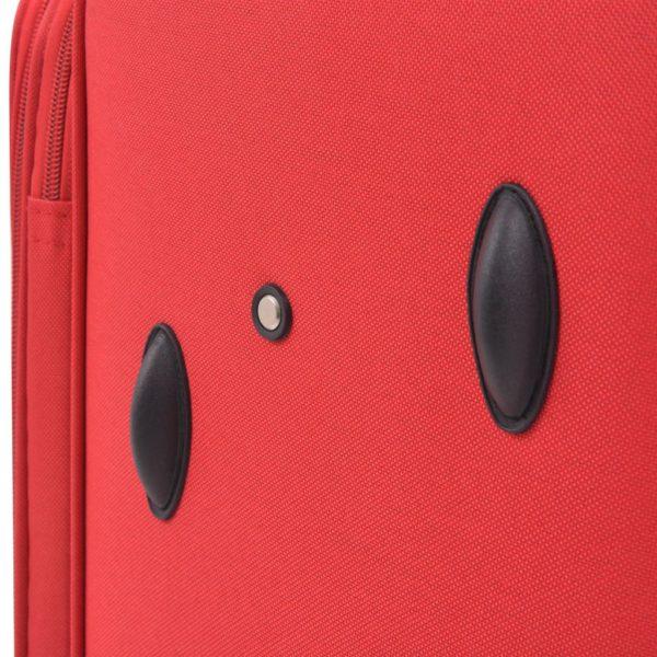 3-tlg. Weichgepäck Trolley-Set Rot