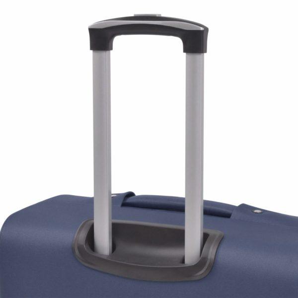3-tlg. Weichgepäck Trolley-Set Marineblau