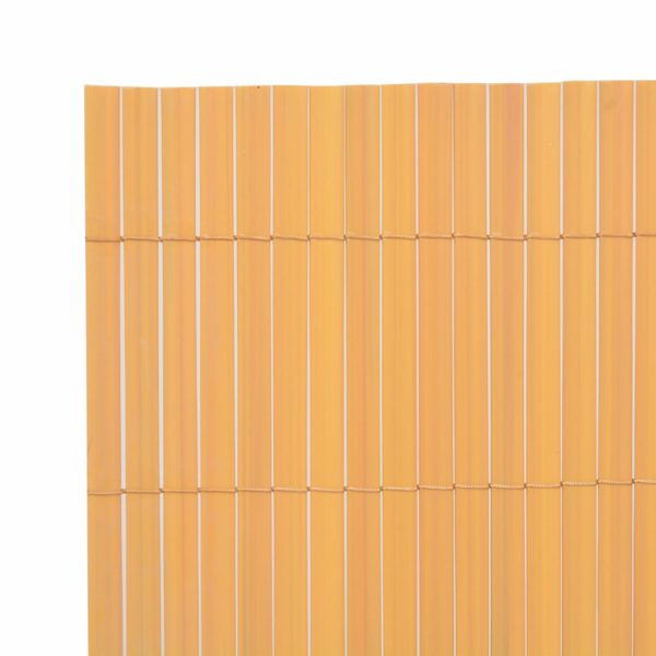Gartenzaun Doppelseitig PVC 150×300 cm Gelb
