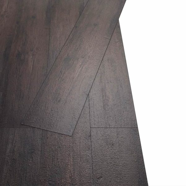 PVC Laminat Dielen Selbstklebend 5,02 m² 2 mm Dunkelbraun