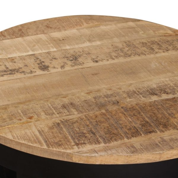 Beistelltisch Raues Mangoholz Massiv 60 x 40 cm