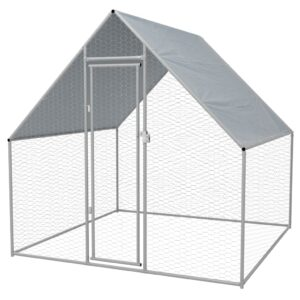 Outdoor-Hühnerkäfig Verzinkter Stahl 2 x 2 x 1,92 m