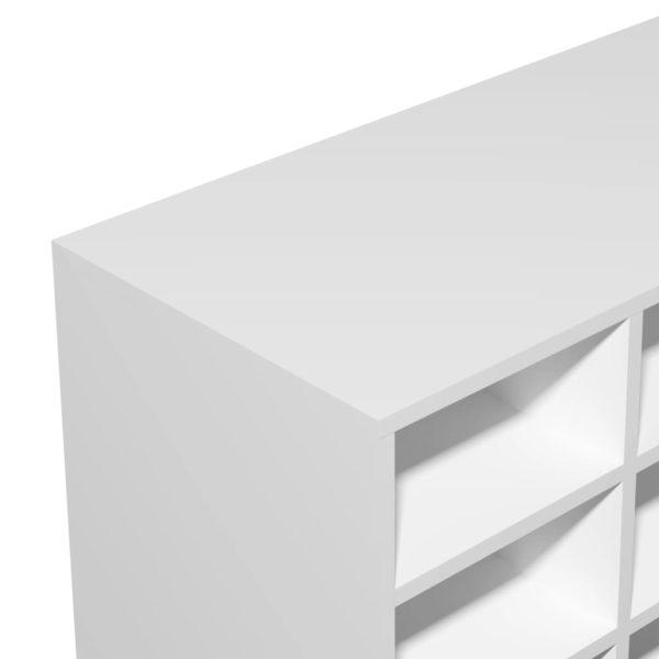 Schuhregal Spanplatte 92 x 33 x 67,5 cm Weiß