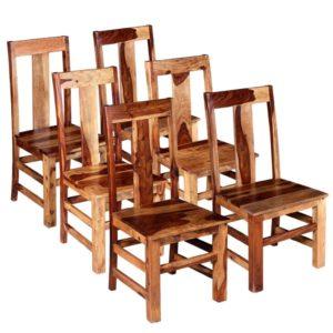 Esszimmerstühle 6 Stk. Massivholz