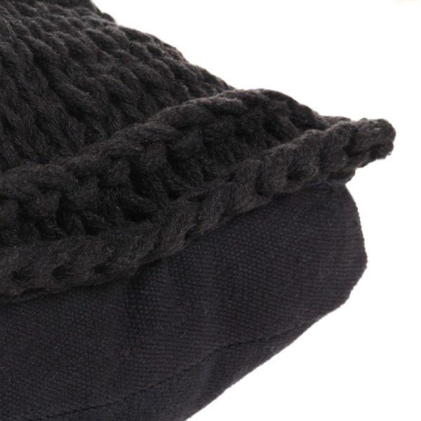 Bodensitzkissen Quadr. Gestrickt Baumwolle 60 x 60 cm Schwarz