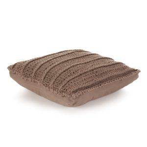 Bodensitzkissen Quadr. Gestrickt Baumwolle 60 x 60 cm Braun