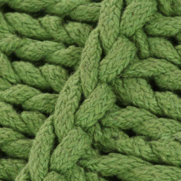Bodensitzkissen Quadratisch Gestrickt Baumwolle 60 x 60 cm Grün