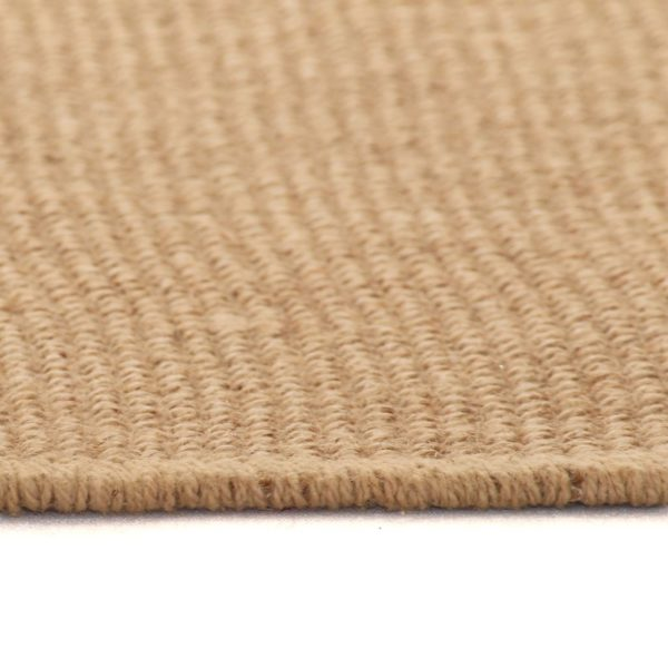 Teppich Jute mit Latexrücken 80 x 160 cm Naturfarben
