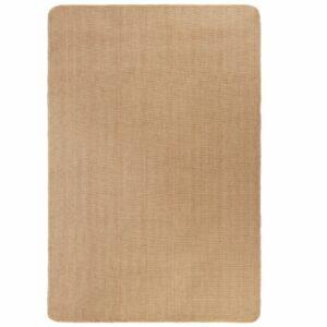 Teppich Jute mit Latexrücken 160 x 230 cm Naturfarben