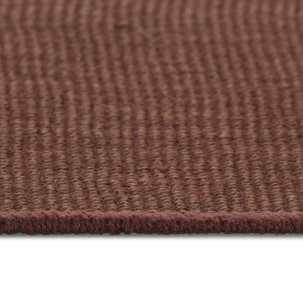 Teppich Jute mit Latexrücken 70 x 130 cm Dunkelbraun
