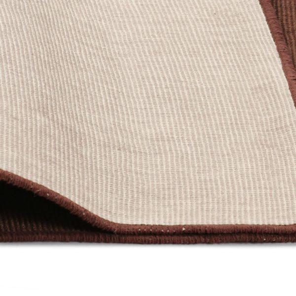 Teppich Jute mit Latexrücken 120 x 180 cm Dunkelbraun