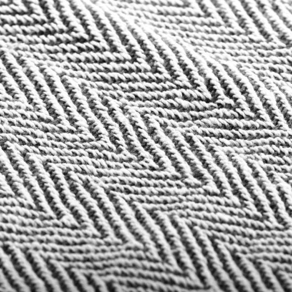 Überwurf Baumwolle Fischgrätmuster 220 x 250 cm Marineblau