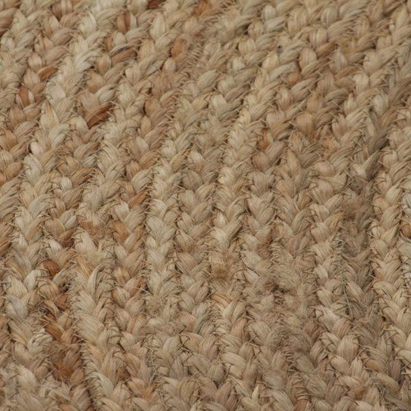 Teppich Jute Geflochten 90 cm Rund