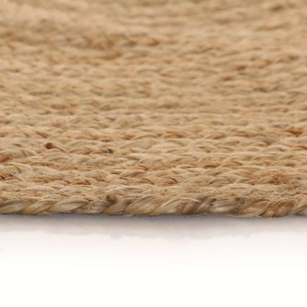Teppich Jute Geflochten 120 cm Rund