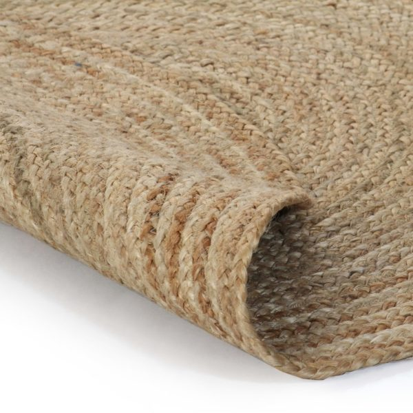 Teppich Jute Geflochten 150 cm Rund