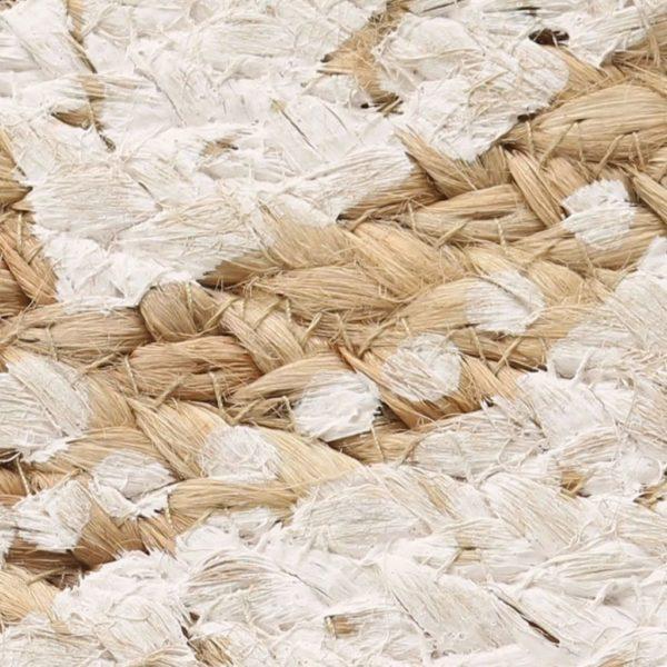 Teppich Jute Geflochten Bedruckt 120 cm Rund